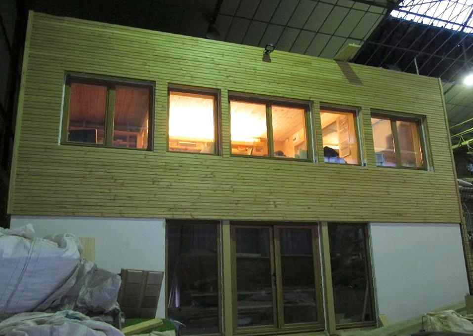 Bureaux paille tech ossature bois paille terre chantier