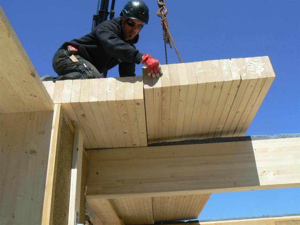 Mellier ossature bois isolation paille argile chantier 02 # Ossature Bois Isolation