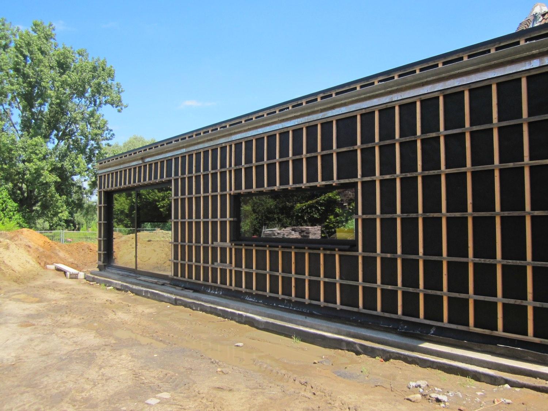 Isolant Ossature Bois - Paille Tech CRIE Harchies ossature bois isolant paille enduit terre chantier 03